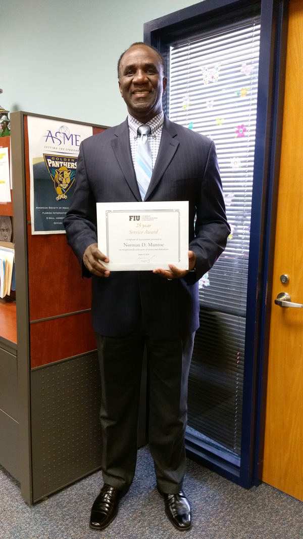 Congratulations to Dr. Norman Munroe for his 25 Year Service Award