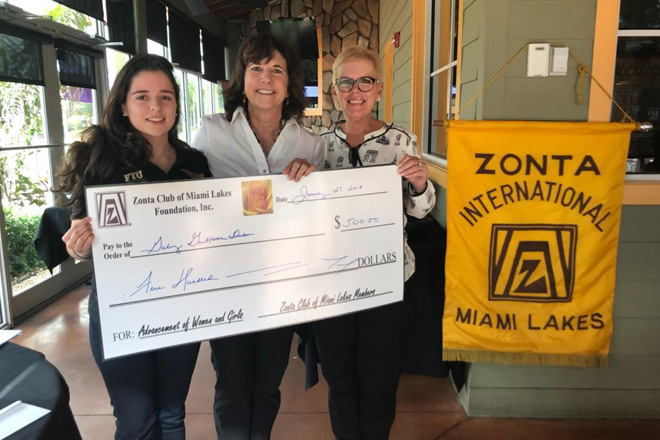 Gabriela Duran has been awarded a scholarship from the Zonta Women's Club
